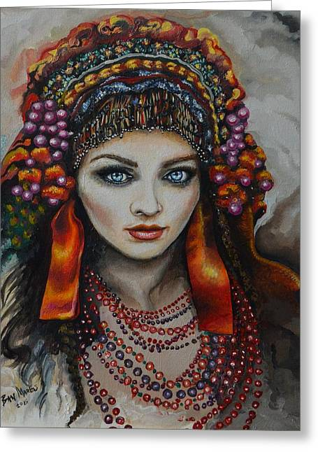 Marble Eye Paintings Greeting Cards - Simplicity Greeting Card by Ban Markos