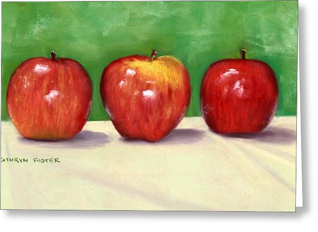 Apple Pastels Greeting Cards - Simplicity Greeting Card by Kathryn Foster