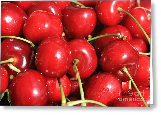 Simply Cherries  Greeting Card by Carol Groenen