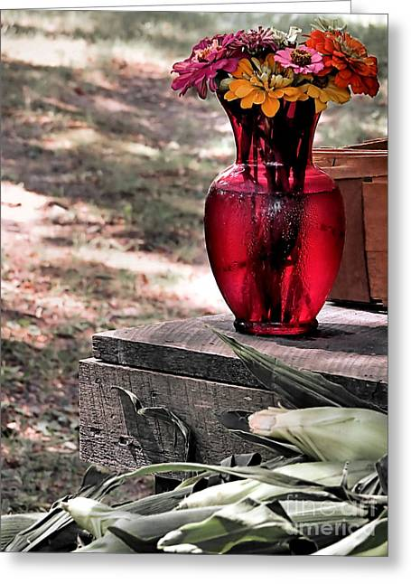 Farmstand Greeting Cards - Simply Enchanting Greeting Card by Janice Drew