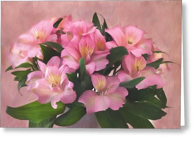 Peruvian Lily Greeting Cards - Simply Georgia Greeting Card by Kim Hojnacki