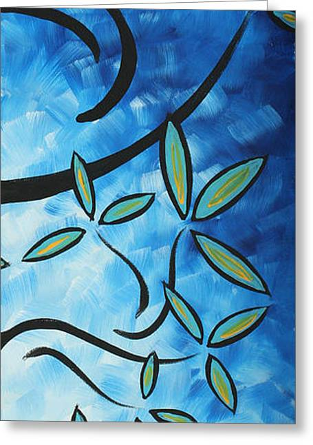 Licensor Greeting Cards - Simply Glorious 4 by MADART Greeting Card by Megan Duncanson