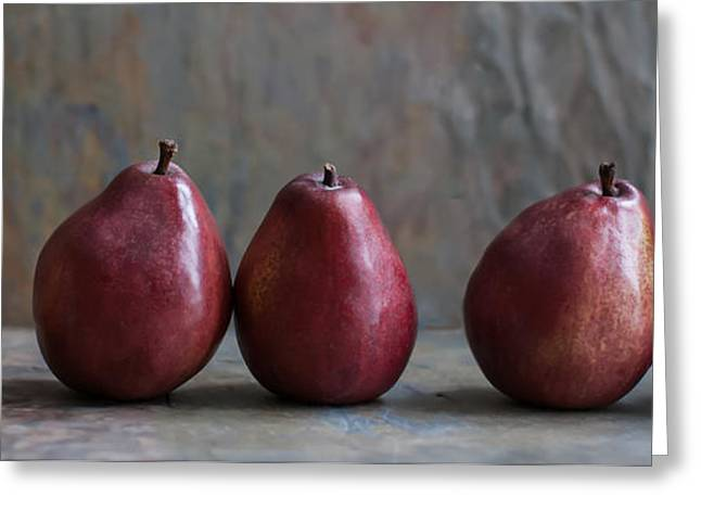 Simply Pears Greeting Card by Maggie Terlecki