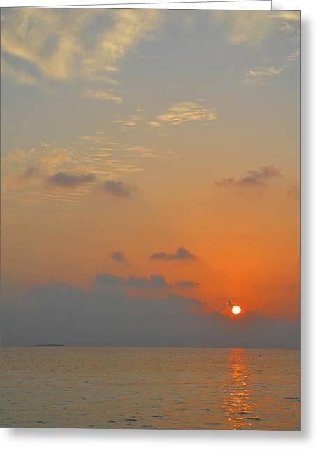 Corinne Rhode Greeting Cards - Simply Sunrise Greeting Card by Corinne Rhode