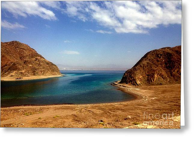 Most Favorite Photographs Greeting Cards - Sinai Fjord Bay  Greeting Card by Noa Yerushalmi