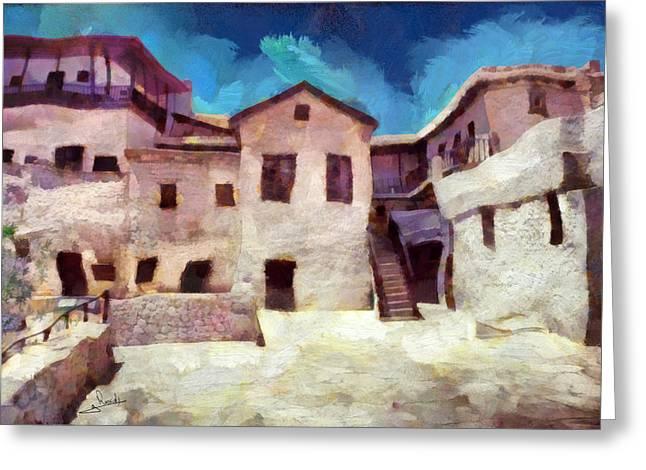 Sinai Monastery Greeting Cards - Sinai Monastery 4 Greeting Card by George Rossidis