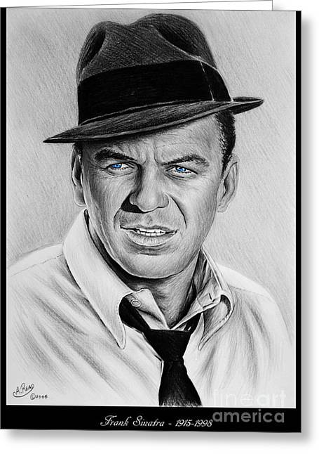 Sinatra Blue Eyes Edition Greeting Card by Andrew Read