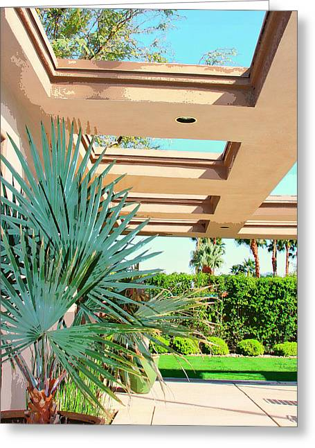 Modernism Greeting Cards - SINATRA PATIO Palm Springs Greeting Card by William Dey