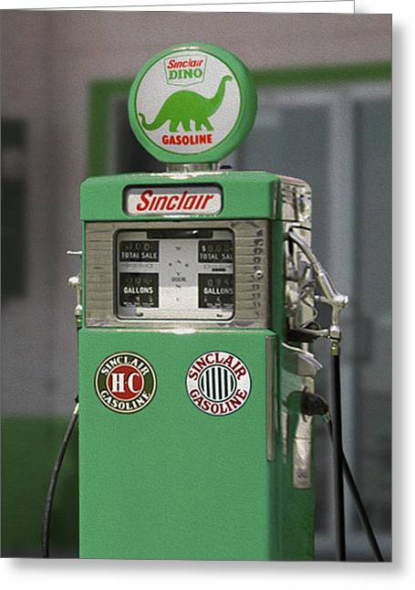 Double Image Greeting Cards - Sinclair Gasoline - Wayne Double Pump Greeting Card by Mike McGlothlen