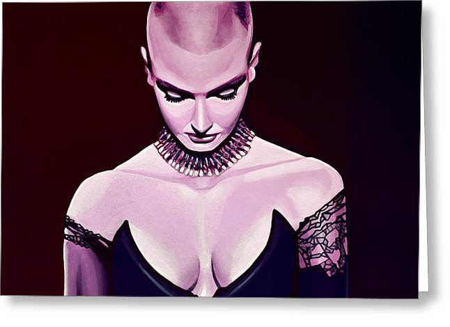 Irish Folk Music Greeting Cards - Sinead OConnor Greeting Card by Paul Meijering