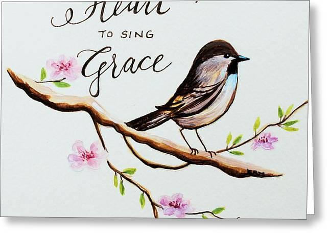 Sing Grace Greeting Card by Elizabeth Robinette Tyndall