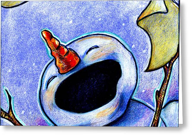 Christmas Art Greeting Cards - Sing Greeting Card by Nada Meeks