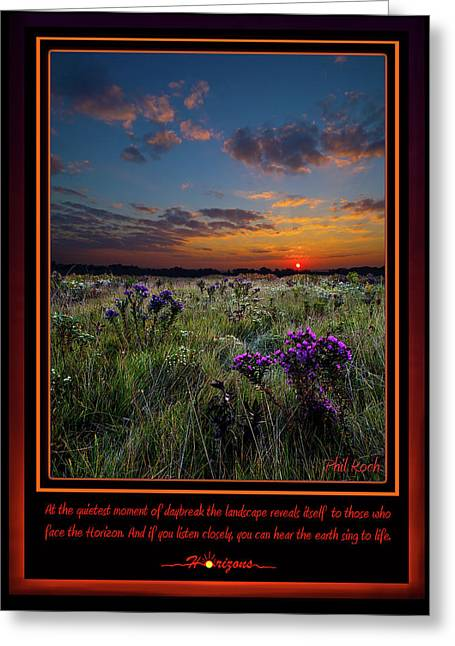 Inspirational Poster Greeting Cards - Sing to Life Greeting Card by Phil Koch