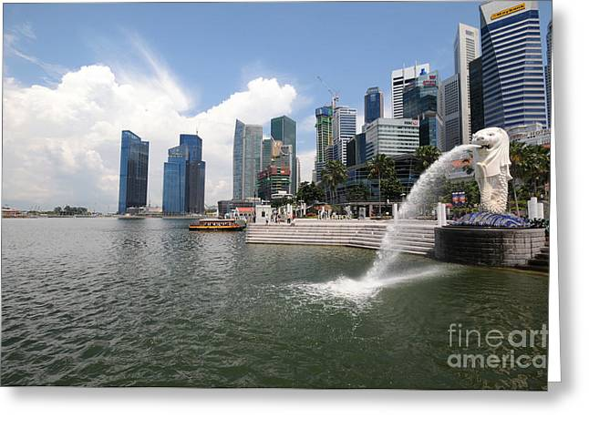 Singapore Greeting Cards - Singapore Greeting Card by Charuhas Images