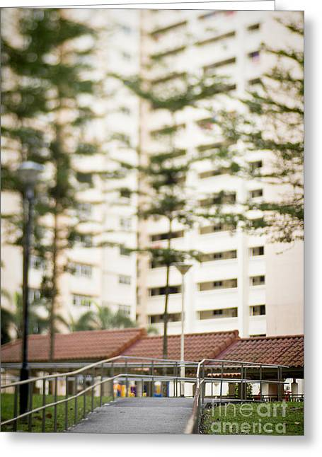 Greeting Cards - Singapore residential housing Greeting Card by Ivy Ho