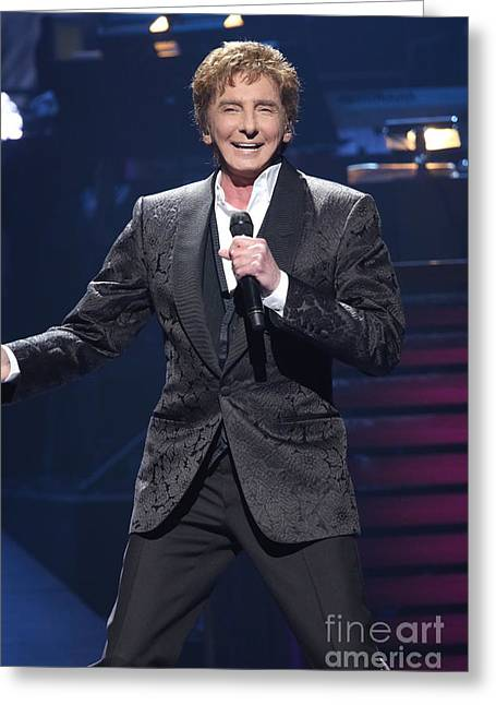 Arranger Greeting Cards - Singer Barry Manilow Greeting Card by Front Row Photographs