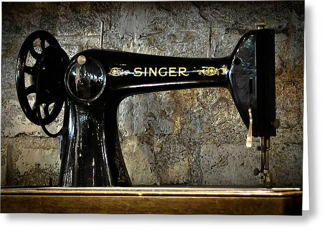 Singer Greeting Card by Ronda Broatch