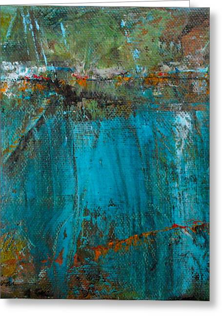 Abstract Expressionist Greeting Cards - Singin with Blues Greeting Card by Mary Sullivan