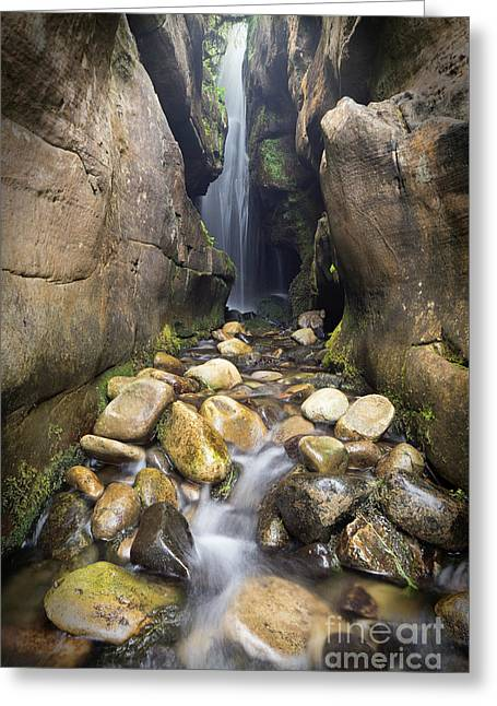 Singing Sands Waterfall Isle Of Eigg Greeting Card by John Potter