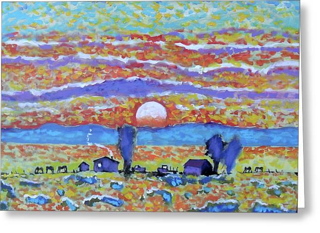 Singing Skies Greeting Card by Kip Decker
