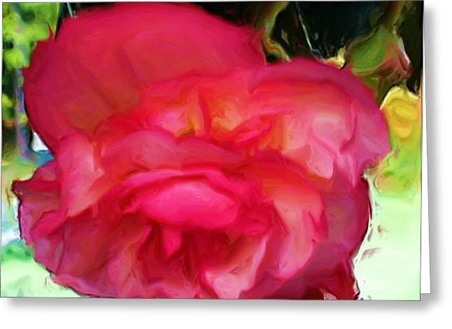 Floral Photographs Mixed Media Greeting Cards - Single and Beautiful Greeting Card by Liz Evensen