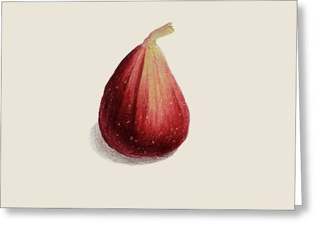 Single Fig Greeting Card by Carlee Lingerfelt