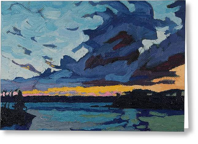 Long Street Greeting Cards - Singleton Sunset Stratocumulus Greeting Card by Phil Chadwick