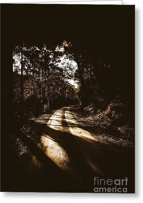 Sinister Roadway Greeting Card by Jorgo Photography - Wall Art Gallery