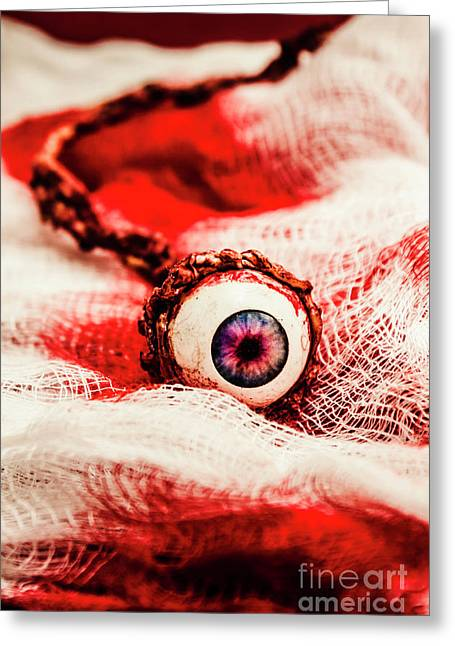 Sinister Sight Greeting Card by Jorgo Photography - Wall Art Gallery