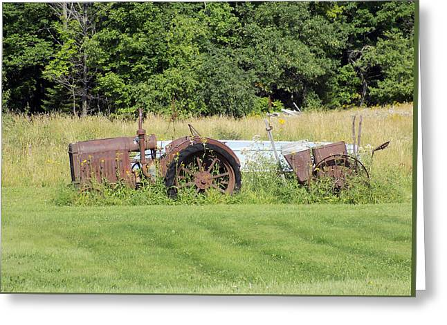 Maine Farms Greeting Cards - Sinking and Rusting Greeting Card by William Tasker