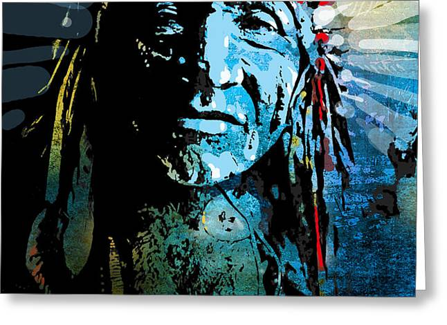 Sioux Chief Greeting Card by Paul Sachtleben