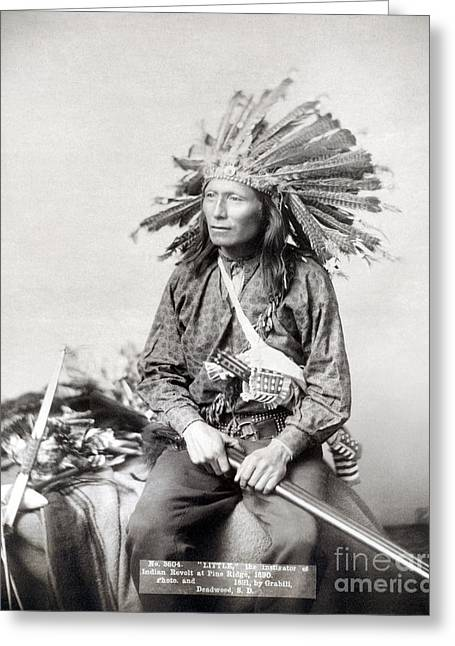 Oglala Greeting Cards - Sioux Leader, 1891 Greeting Card by Granger