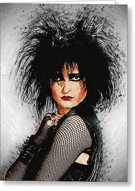 80s Greeting Cards - Siouxsie Sioux Greeting Card by Taylan Soyturk