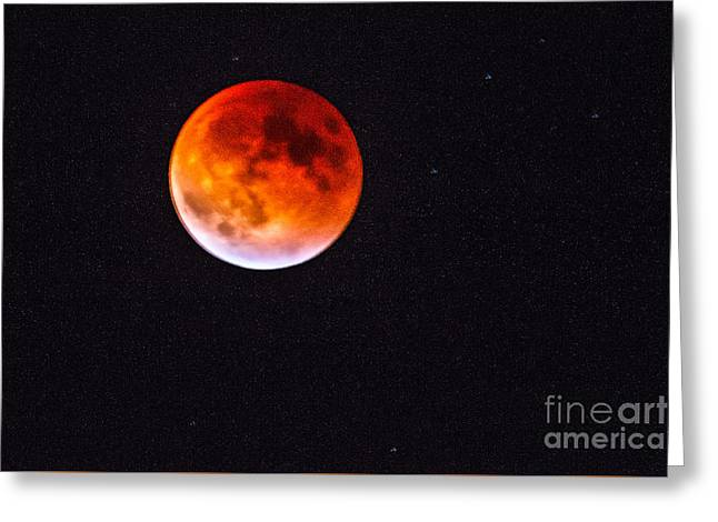 Super Moon Eclipse 2 Greeting Card by Robert Bales