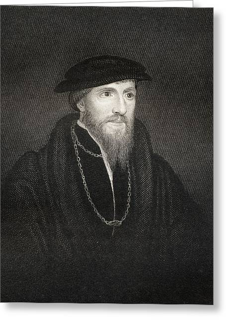 Reform Drawings Greeting Cards - Sir Anthony Denny 1501-1549. Close Greeting Card by Vintage Design Pics