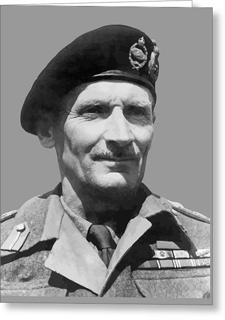 Marshall Greeting Cards - Sir Bernard Law Montgomery  Greeting Card by War Is Hell Store