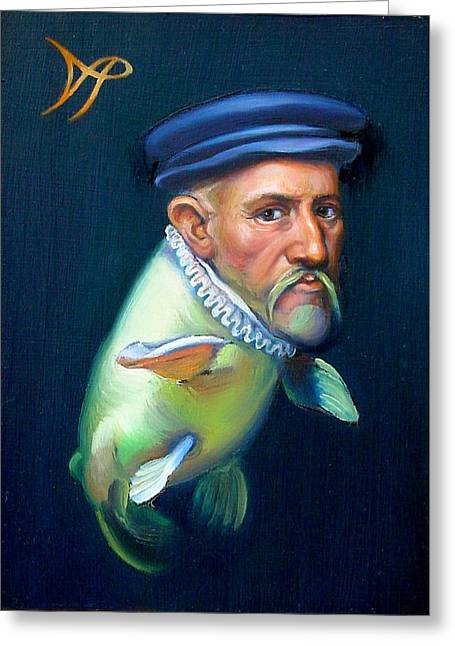 Fish Fins Greeting Cards - Sir Carpio Diem Greeting Card by Patrick Anthony Pierson