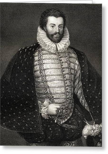 Christopher Drawings Greeting Cards - Sir Christopher Hatton, 1540-1591 Greeting Card by Vintage Design Pics