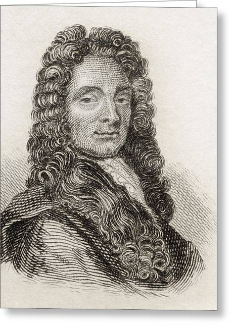Christopher Drawings Greeting Cards - Sir Christopher Wren, 1632 To 1723 Greeting Card by Vintage Design Pics