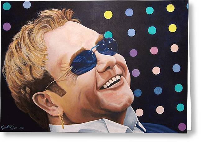 Sir Elton Greeting Card by Kenneth Kelsoe
