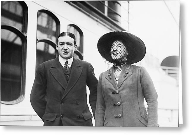 Sir Ernest Shackleton And Wife Greeting Card by Underwood Archives