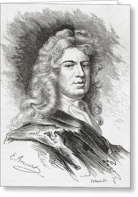 English School; (17th Century) Greeting Cards - Sir Godfrey Kneller, 1st Baronet, 1646 Greeting Card by Ken Welsh