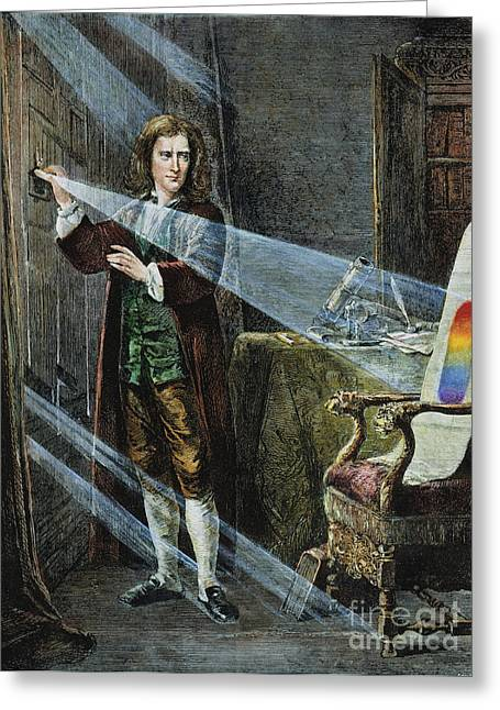 18th Century Greeting Cards - Sir Isaac Newton Greeting Card by Granger