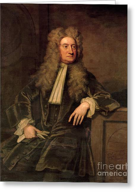 Isaac Greeting Cards - Sir Isaac Newton  Greeting Card by Sir Godfrey Kneller