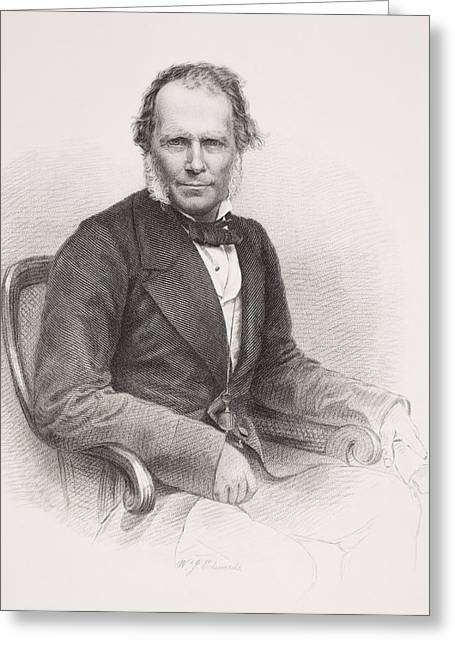 Brookes Greeting Cards - Sir James Brooke 1803 - 1868. First Greeting Card by Ken Welsh