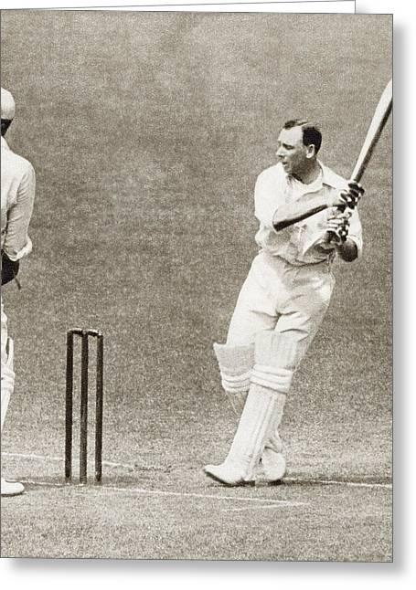 Cricketers Greeting Cards - Sir John Berry Jack Hobbs, 1882 Greeting Card by Vintage Design Pics