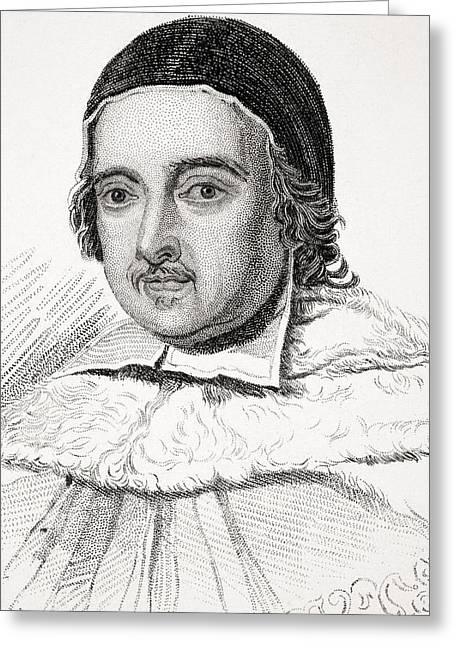 Chief Justice Drawings Greeting Cards - Sir Matthew Hale 1609-1676 Lord Chief Greeting Card by Vintage Design Pics