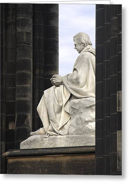 Sir Greeting Cards - Sir Walter Scott Statue Greeting Card by Mike McGlothlen
