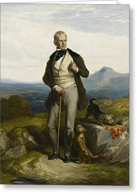 Sir Walter Scott Greeting Card by William Allan