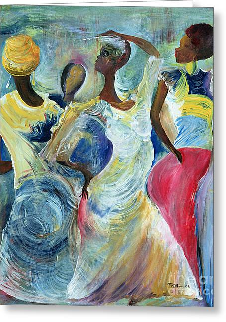 African-american Greeting Cards - Sister Act Greeting Card by Ikahl Beckford